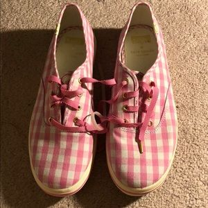 Kate Spade brand new pink / white sneakers